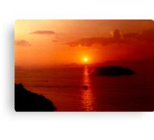 Hydra Sunset Canvas Print