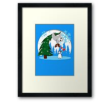 Sloth and Friend Holiday Framed Print