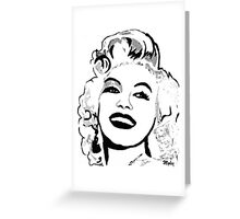 Marilyn So Beautiful In Black and White Greeting Card