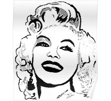 Marilyn So Beautiful In Black and White Poster