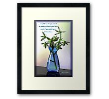 Just Thinking ~ My Best Friend Framed Print