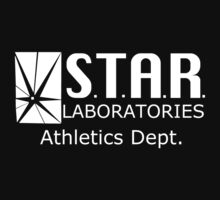 Star Labs Athletic Dept. - White Text Kids Clothes