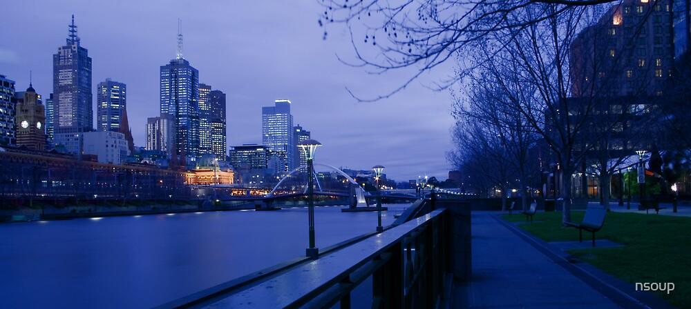 Melbourne Dusk by nsoup