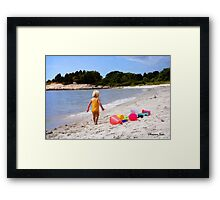 Just a Beach Boy and His Toys Framed Print