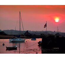 The British Flag at Sunset Photographic Print