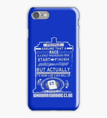 Wibbly Wobbly Racey Wacey Stuff iPhone Case/Skin