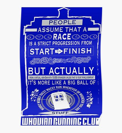 Wibbly Wobbly Racey Wacey Stuff Poster