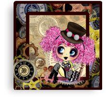 Cute steampunk goth girl gifts Cosplay Canvas Print