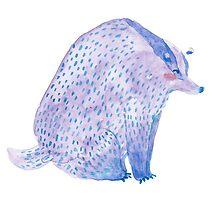 Blushing Badger by sealskinstudios