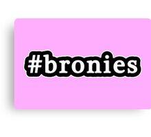 Bronies - Hashtag - Black & White Canvas Print