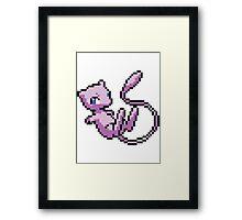 8 bit mew pokemon Framed Print