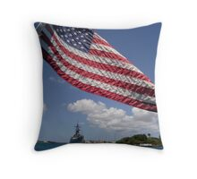 U.S.S. Missouri Throw Pillow