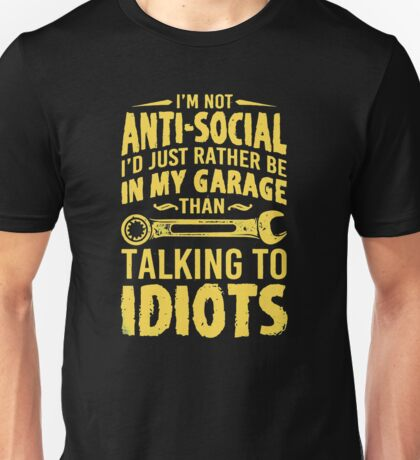 Talking to idiots Unisex T-Shirt