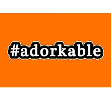 Adorkable - Hashtag - Black & White Photographic Print