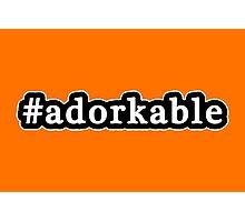 Adorkable - Hashtag - Black & White Photographic Print