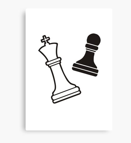 Chess Brain Game Canvas Print