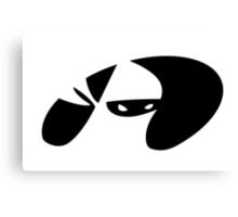 Ninja Emblem Canvas Print