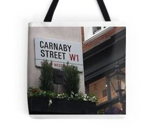 Carnaby Street Sign, London Tote Bag