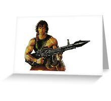 Rambo. Ready to order. Greeting Card