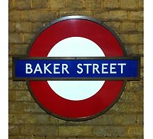 Baker Street, London Tube Sign by Tony Lupton