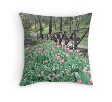 Tulips at Araluen Botanic Park   Throw Pillow