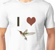 I heart hummingbirds Unisex T-Shirt