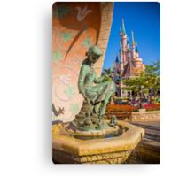 Cinderella Fountain at Disneyland Paris Canvas Print