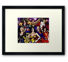 WONDER WOMAN and friends Framed Print
