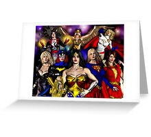 WONDER WOMAN and friends Greeting Card