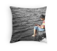 Lakeside Thinker Throw Pillow