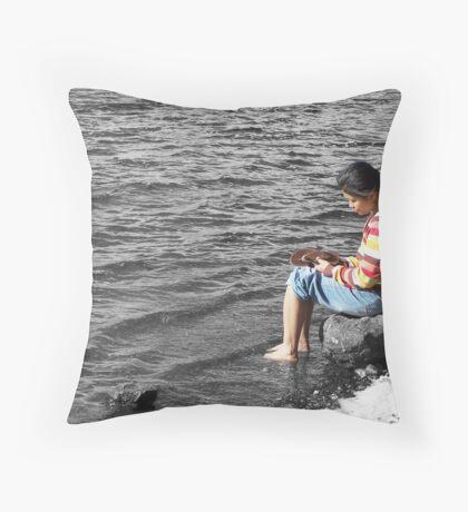 Lakeside Thinker Throw Pillow