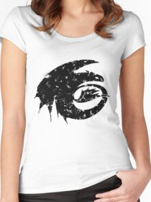 Toothless Silhouette Tee  Women's Fitted Scoop T-Shirt