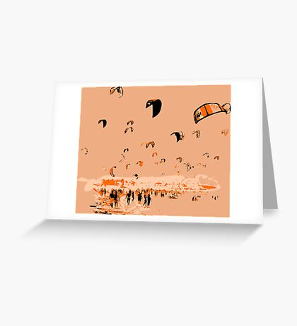 Kite Surfing Tarifa Greeting Card