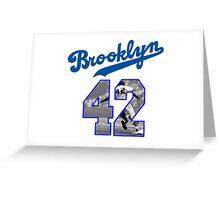 Jackie Robinson 42 Greeting Card