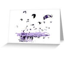 Tarifa Kite Surfing City Greeting Card
