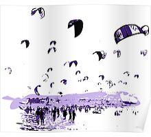 Tarifa Kite Surfing City Poster