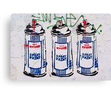 Street art brought to the masses!!! Canvas Print