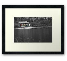 Tired Canoes Framed Print