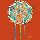 Tangerine Dream Mandala by © Karin Taylor