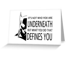 Batman Defined Greeting Card