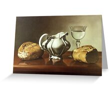 colour ,realism ,oil, oleo , art ,fine art , artwork ,painting ,paint ,wall paint ,bread , ceramic , white ,realism , Greeting Card