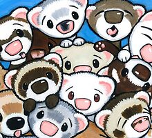 16 Ferrets by Shelly  Mundel