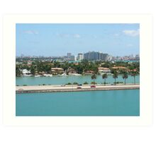 Port of Miami Art Print