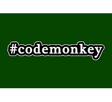 Code Monkey - Hashtag - Black & White Photographic Print