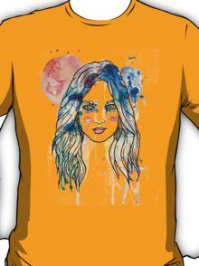watercolour girl longhair T-Shirt