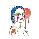 watercolour girl shorthair by Chris Stokes