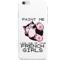 French girls iPhone Case/Skin