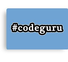 Code Guru - Hashtag - Black & White Canvas Print