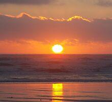 Oregon Coast sunset by Jenntill
