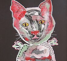 Funky Cat 2 by Bea Roberts